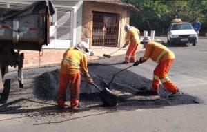 Daae inicia força-tarefa para tapar buracos na cidade