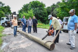 Prefeitura começa a colocar madeiramento na ponte do Jardim Novo