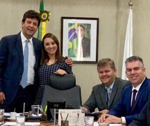 Ministro da Saúde recebe prefeito e presidente da Câmara de Rio Claro